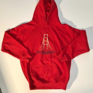 Red San Francisco Cali Pullover Hoodie Sweatshirt